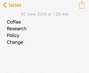 Writing lists in my sleep